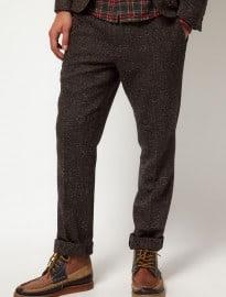Asos Slim Fit Suit Trousers In Fleck Herringbone