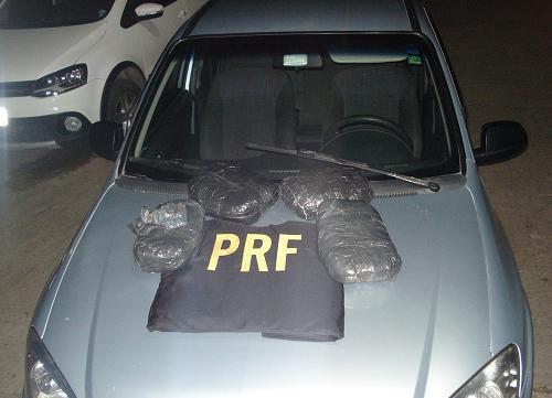 Pacotes de maconha foram apreendidos pela PRF na BR 116