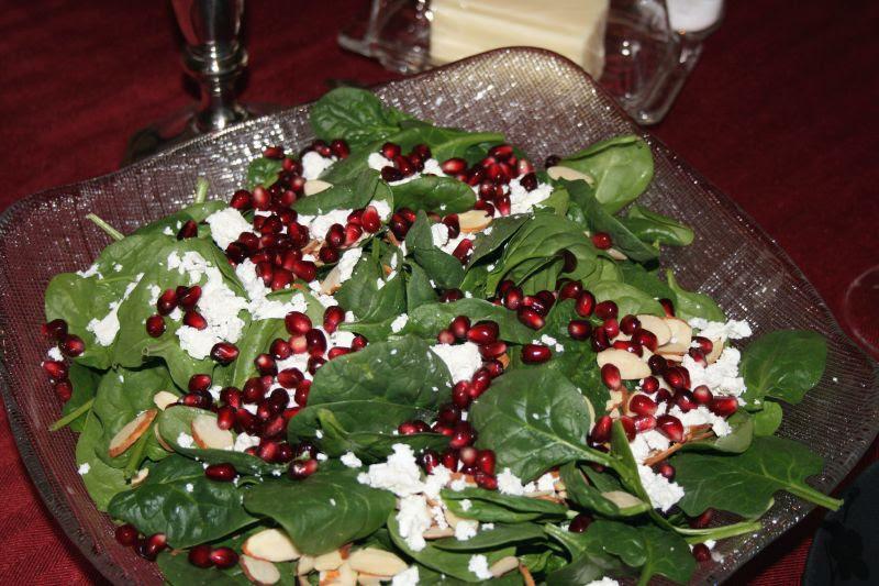 Pomegranite Spinach Salad