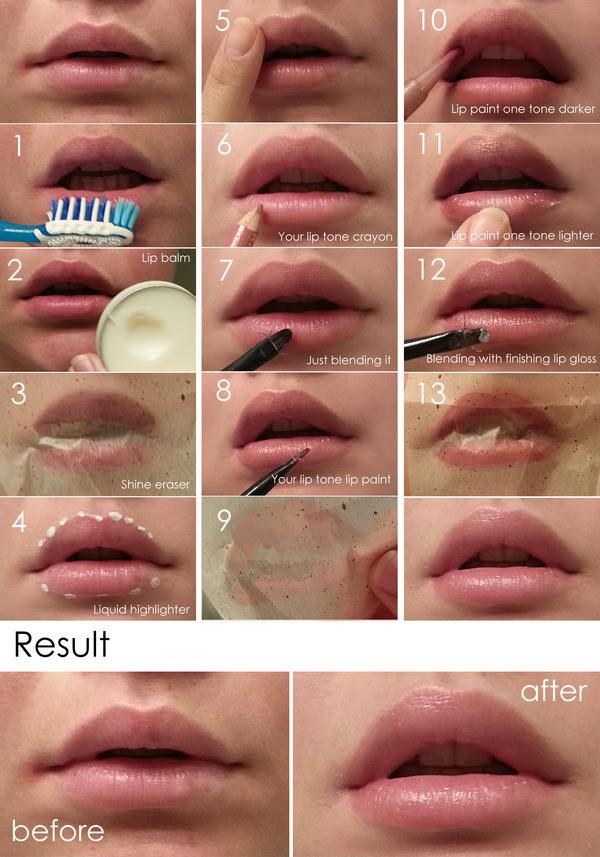 Natural Look Lip Makeup Tutorial | Valerie D.'s (Valeritte ...