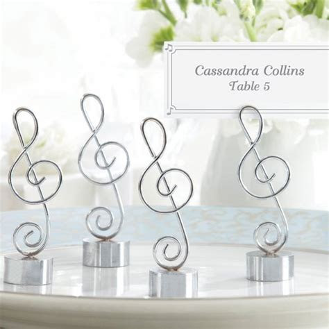Note Place Card Holders, Note Photo Holders, Music Note