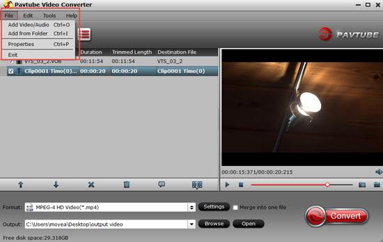 Load DJI Mavic Pro Platinum 4K files