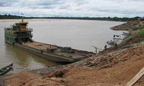 peru timber barge