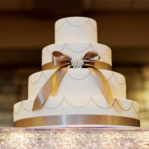 golden wedding - cake