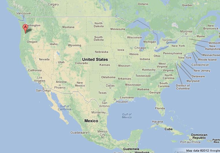 Time Zones Map: Portland Oregon Us Map