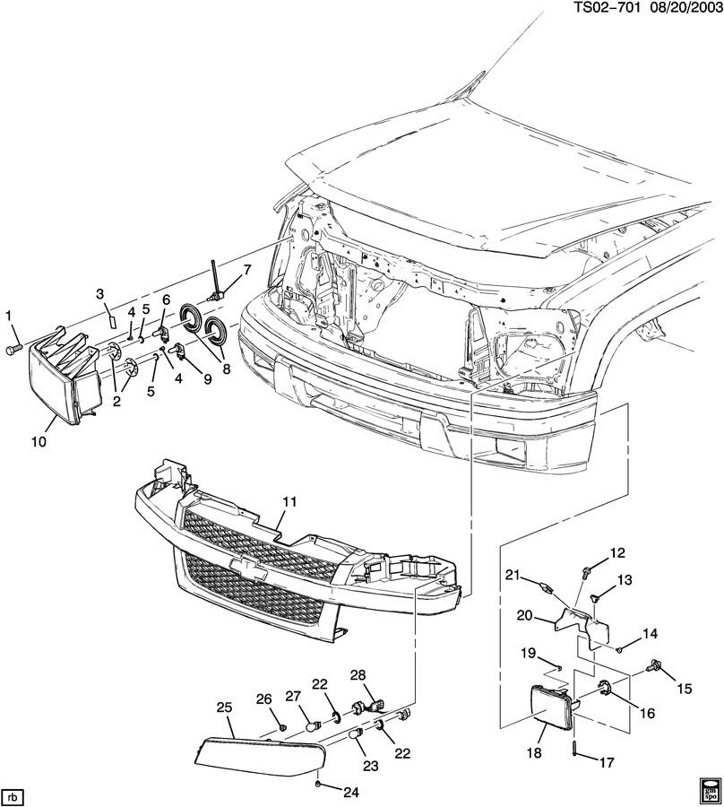30 Chevy Colorado Parts Diagram