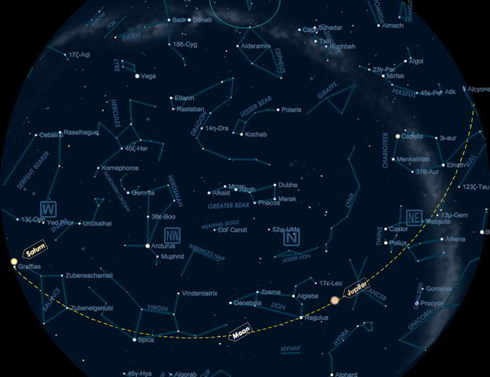 Time Zone Map: Free Star Map Generator
