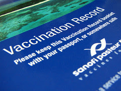 Vaccination record booklet. Includes the Yellow fever certificate which is mandatory for entry to certain countries.