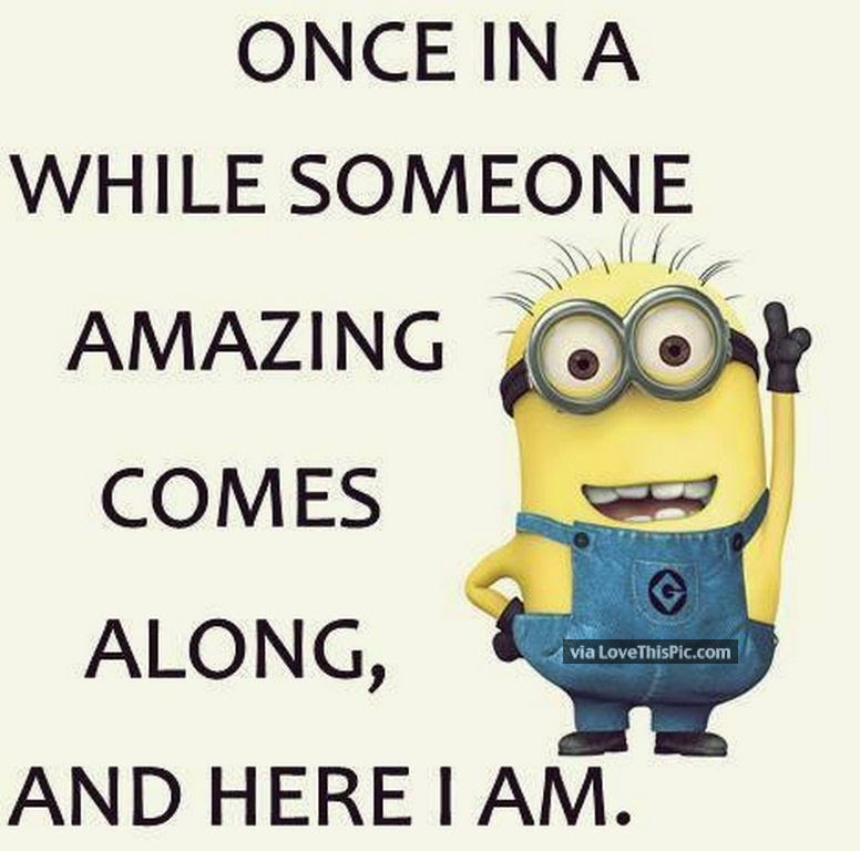 I Am Amazing Funny Minion Quote Pictures Photos And Images For