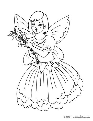 Fairy carnival kid costume coloring pages - Hellokids.com