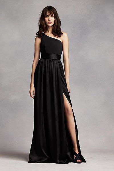 One Shoulder Dress with Satin Sash VW360215   He Does I Do