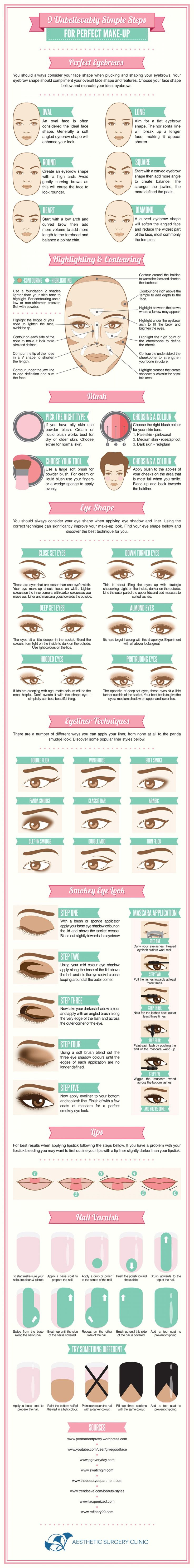 9 Unbelievably Simple Steps For Perfect Make-Up | From Visual.ly | DIY & Crafts