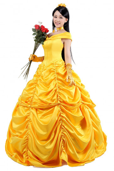 Disney Belle Princess Cosplay Outfit For Children And Adults