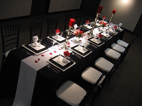 silver wedding anniversary decorating ideas   red black