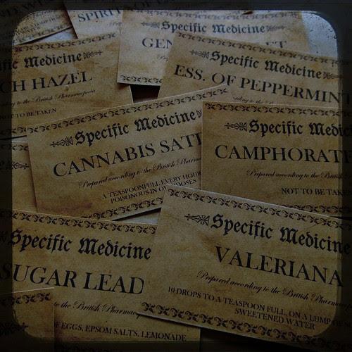 Fake Vintage Medicine Labels