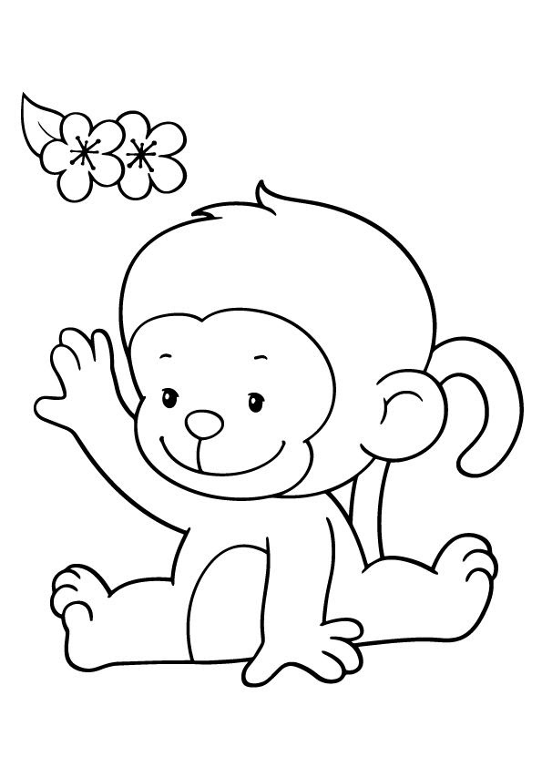 Monkey Drawing Easy at GetDrawings | Free download