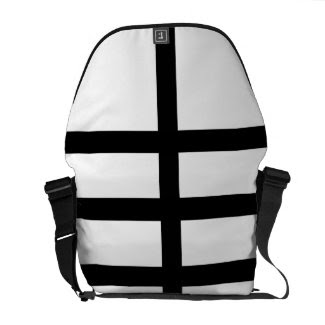 5 Bisected Black Lines Commuter Bag