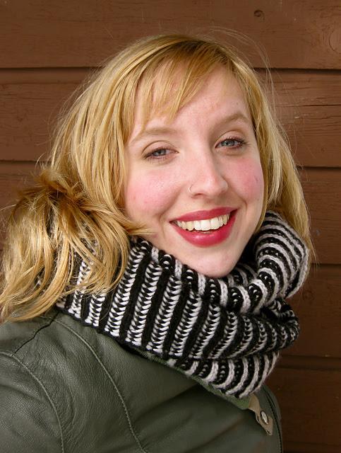 collo, scaldacollo, maglia, knitting, two colors