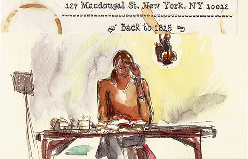 Tea Spot, New York, NY, with address from placemat
