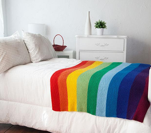 The Mighty Rainbow Blanket - Free Knitting pattern