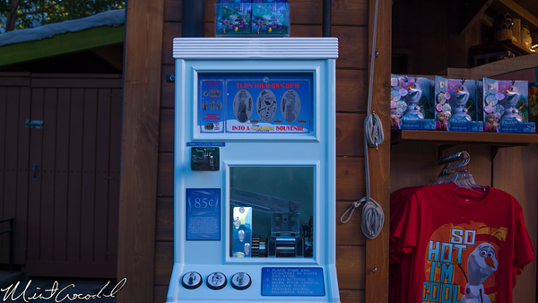 Disneyland Resort, Disney California Adventure, Hollywood Land, Frozen, Frozen Fun, Wandering Oaken's Trading Post, Coin, Press