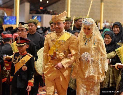 Royal wedding ceremonies held for Brunei Sultan's son