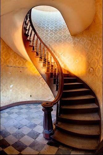 Escada da estação de Wilkes-Barre