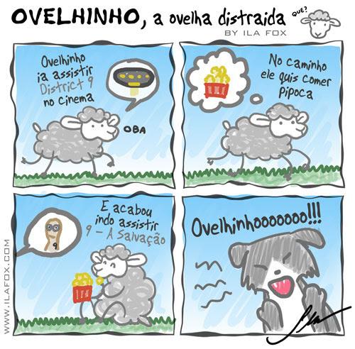 carneiro ovelha, ovelhinho a ovelha distraída vai ao cinema - quadrinhos by ila fox