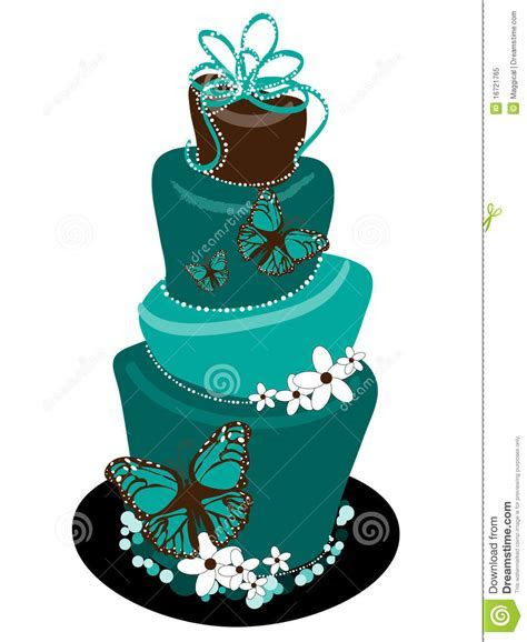 Butterfly Topsy Turvey Wedding Cake Stock Vector   Image