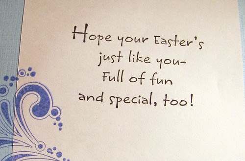 Inside of my Easter card