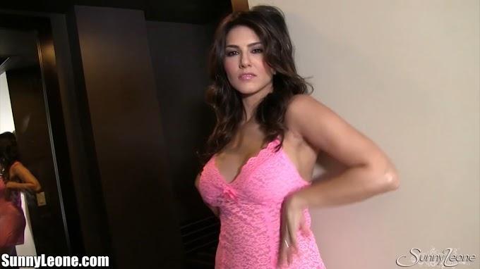 Sunny Leone in her pretty little pink dress - SunnyLeone.com