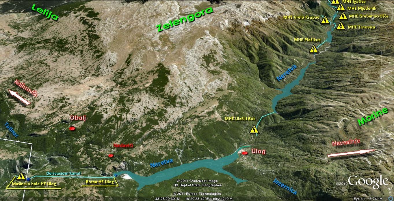 topografska karta srbije sa nadmorskim visinama Battle for Neretva Bitka za spas Neretve Bosnia He   Google Earth  topografska karta srbije sa nadmorskim visinama