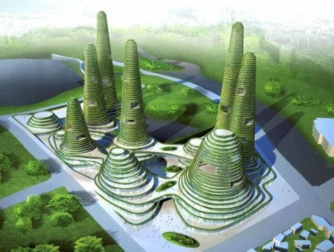 gwanggyo project competition won mvrdv architects3 Gwanggyo Power Centre, la ciudad ecológica
