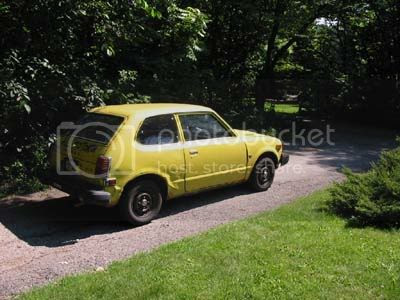 Yellow 1979 Honda Civic 1200