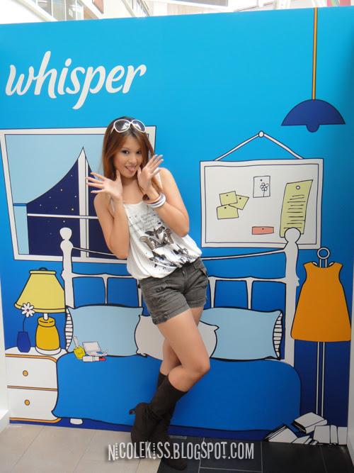 posing for whisper