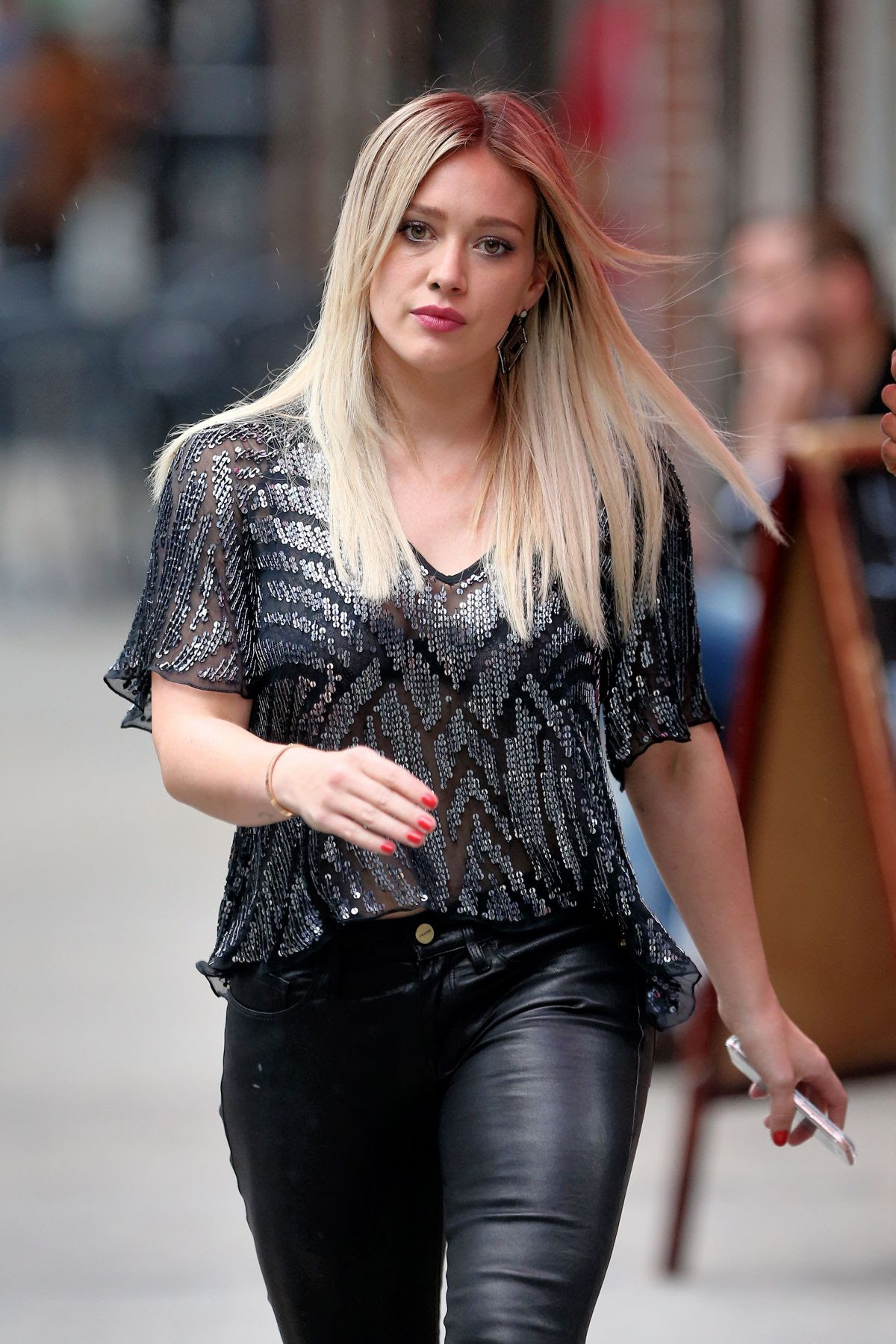 HILARY DUFF on the Set of Younger in New York 11/05/2015
