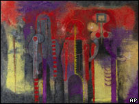 """""""Tres personajes"""" (1970) del pintor mexicano Rufino Tamayo"""