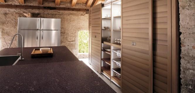 Walnut kitchen larder