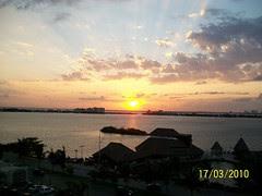 Pôr-do-sol em Cancún