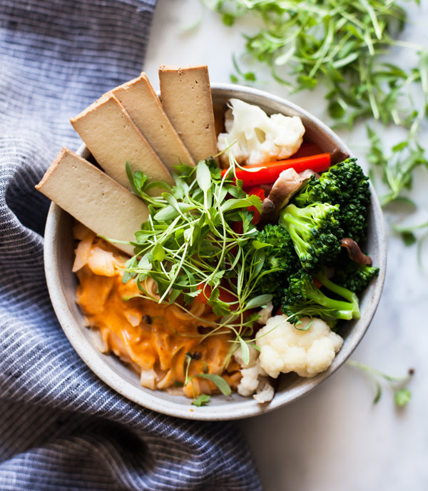 Quick & Easy Red Curry Rice Noodle Bowls | The Full Helping