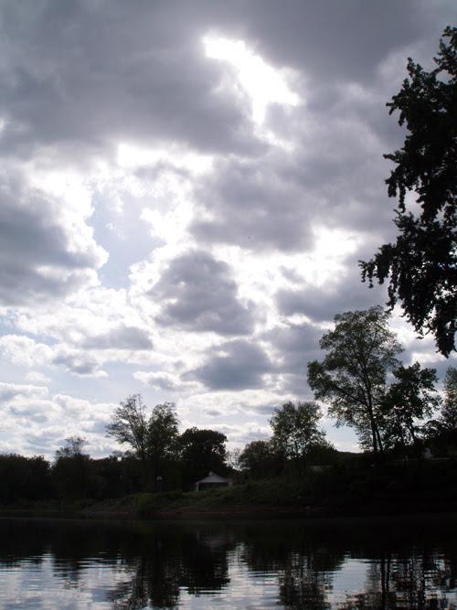 cloudy sunset at Shawnee, Pennsylvania