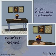 Fucifino.Memories of Grandma for Moody Mondays