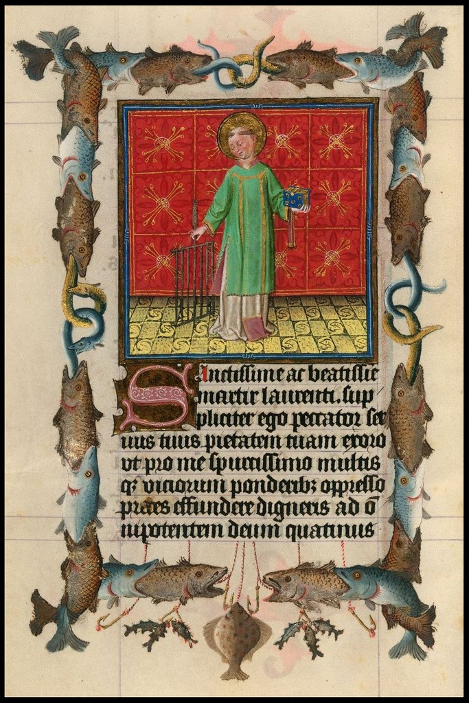 The Hours of Catherine of Cleves (Morgan exhibition)(cropped page)