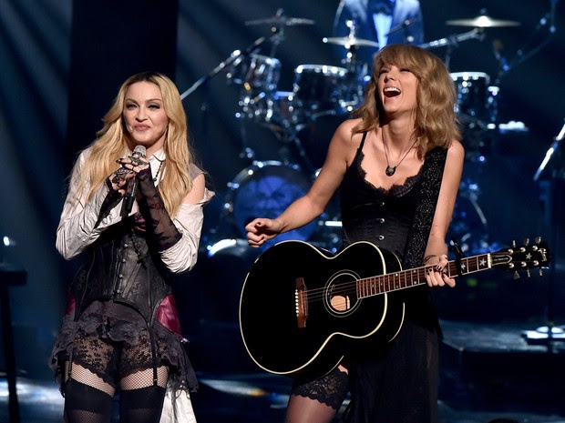 iHeart Radio Music Awards - Madonna e Taylor Swift (Foto: AFP)