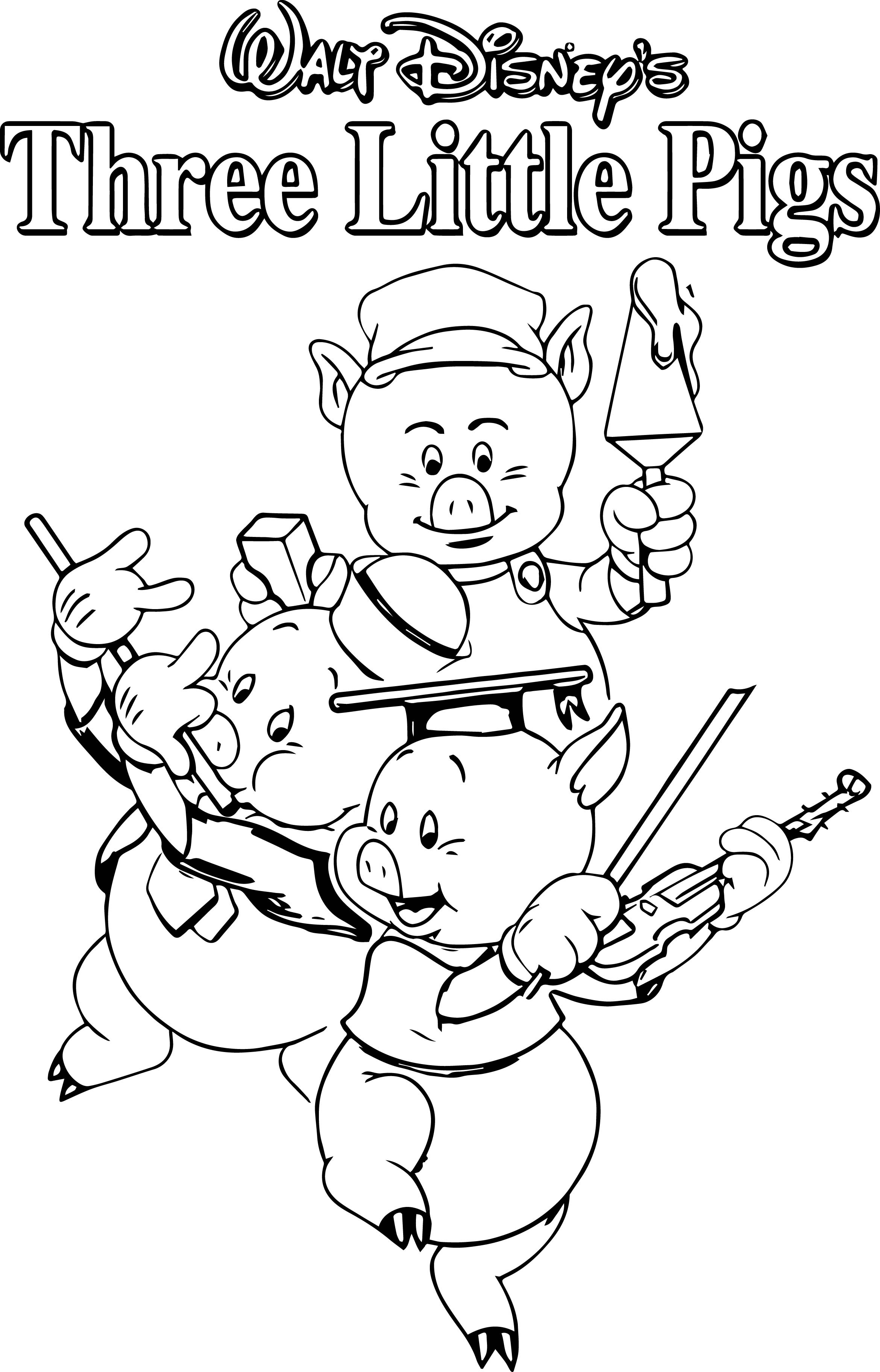The Three Little Pigs Coloring Pages - Coloring Pages Kids 2019
