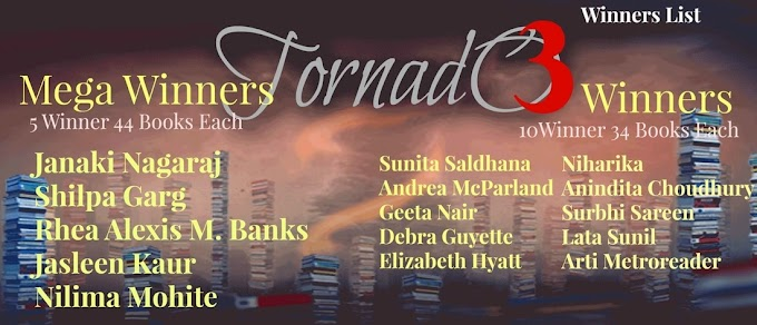 Declaring The Winners of Tornado Giveaway Three