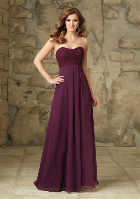 Classic Lace and Chiffon Bridesmaid Dress   Style 107