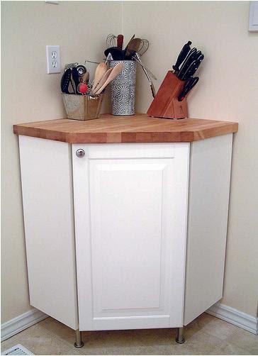 Corner Cabinet + Countertop Hack - IKEA Hackers