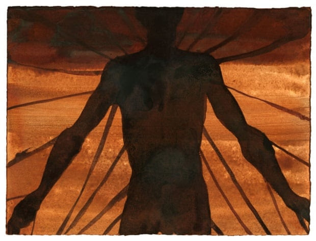 Antony Gormley,CONNECTION, 2001, Aniline dye on paper, 28 x 38cm, © the artist