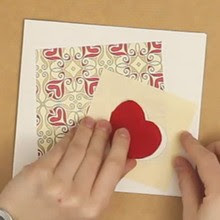Card with a heart window
